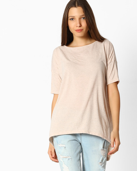 Top With Dipped Hemline By Femella ( Pink )