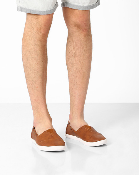 Slip-on Canvas Shoes By AJIO ( Brown )