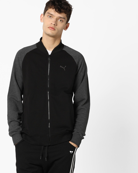 Front-Zip Jacket With Zip Pockets By Puma ( Black )