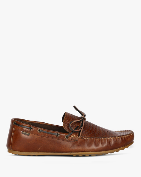 Boat Shoes With Textured Upper By RED TAPE ( Brown )