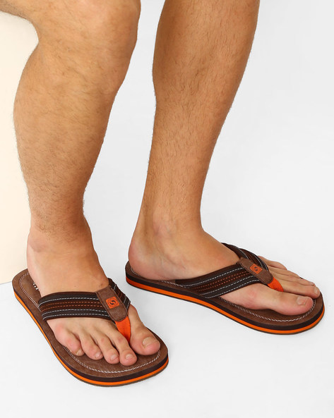 Thong-Style Vapour Flip-Flops By Sole Threads ( Brown )