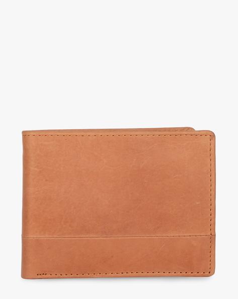 Leather Bi-Fold Wallet By TEAKWOOD LEATHERS ( Brown ) - 460173781001
