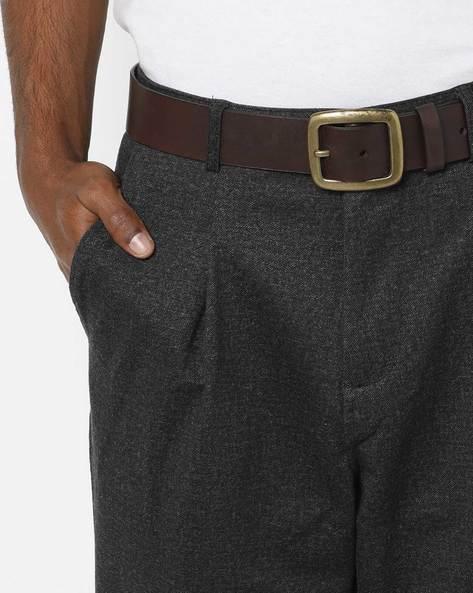 Genuine Leather Belt With Buckle Closure By WRANGLER ( Darkbrown )