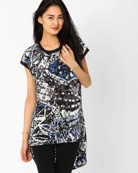 Printed High-Low Tunic By Style Quotient By Noi ( Multi )