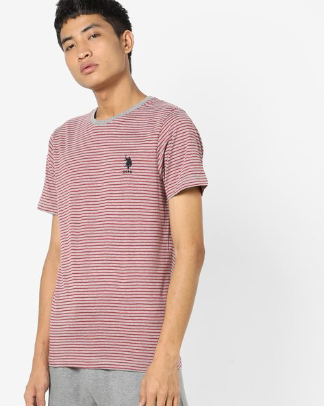 Striped Crew-Neck T-shirt By US POLO ( Assorted ) - 460157701004