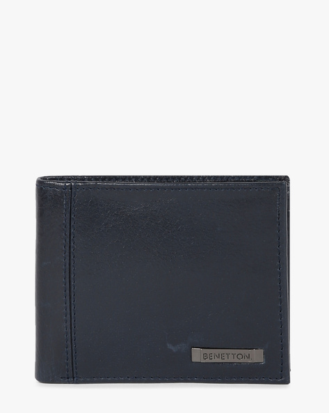 Genuine Leather Bi-Fold Wallet By UNITED COLORS OF BENETTON ( Blue ) - 460133118001