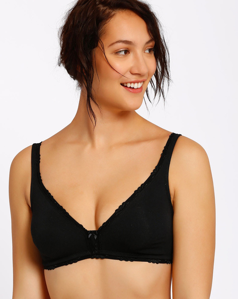 Non-Padded Bra With Adjustable Straps By Enamor ( Black ) - 460032882012