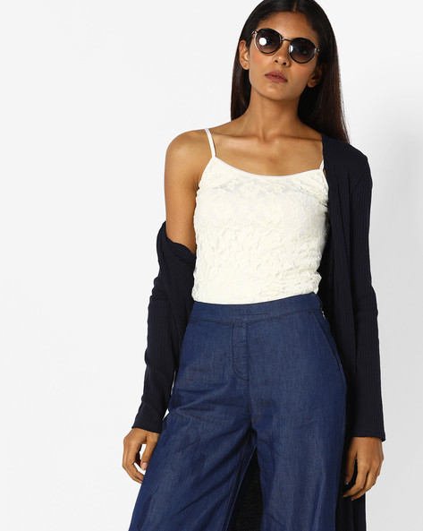 Strappy Crochet Top By CODE By Lifestyle ( White )