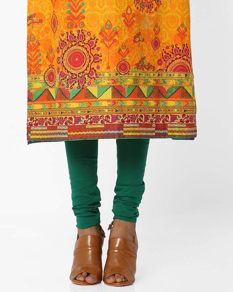 Churidar With Elasticated Waistband By Biba ( Green )