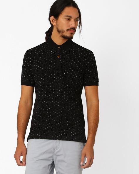 Novelty Print Slim Fit T-shirt By JOHN PLAYERS ( Black )