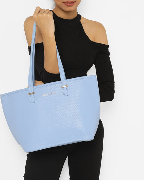 Textured Tote Bag By Lino Perros ( Blue )