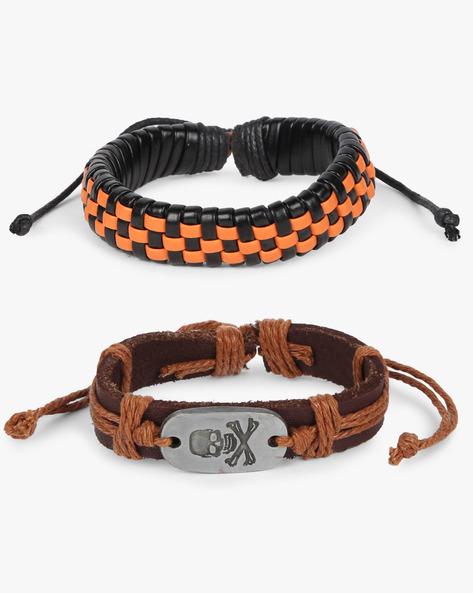 Set Of 2 Bracelets By ALPHA MAN ( Orange )