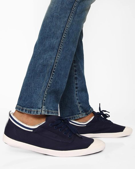 Canvas Sneakers With Contrast Detail By Muddman ( Navy )
