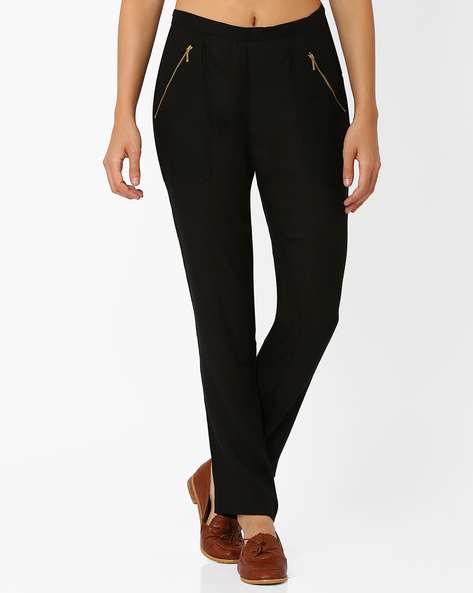 Trousers With Zip Detail By ANONYMOUS CO ( Black )