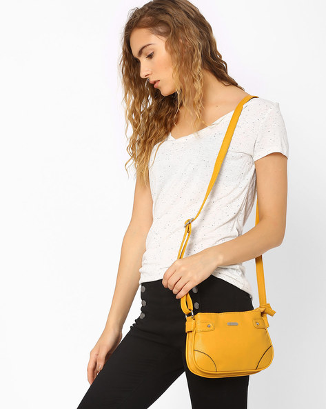 Sling Bag With Adjustable Strap By Lavie ( Mustard )