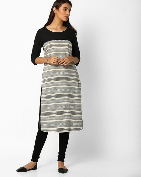 Printed Cotton Straight Kurta By AURELIA ( Brtmulti )