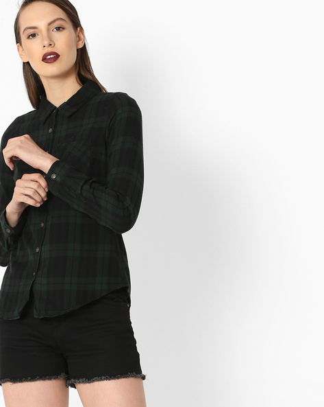 Checked Shirt With Patch Pocket By Alibi ( Multi )