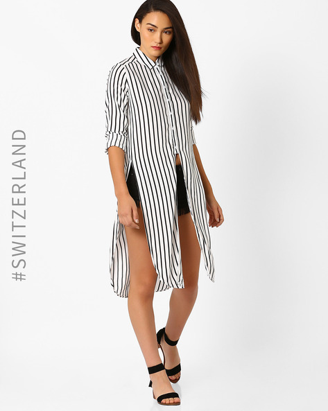 Striped Knee-Length Shirt By TALLY WEiJL ( White )