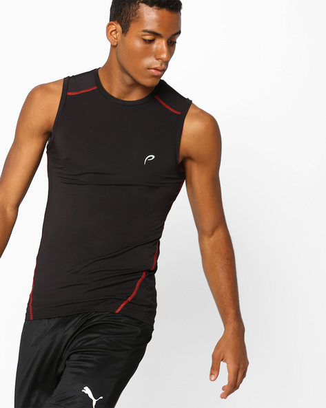 Pack Of 2 Sleeveless T-shirt By PROLINE ( Black )