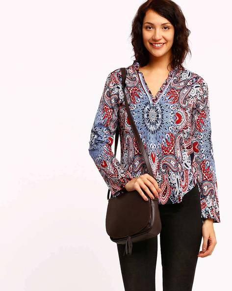 Printed Top By Oxolloxo ( Blue )