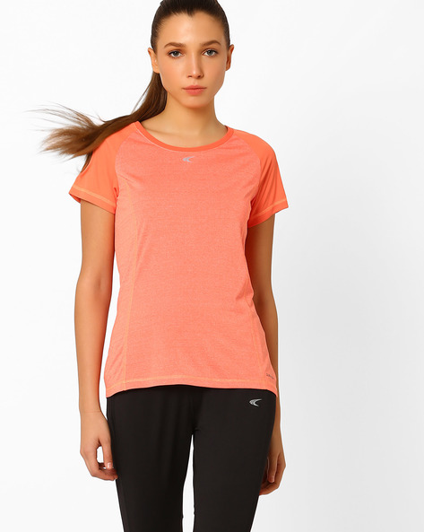 QuickDry T-shirt With Short Sleeves By PERFORMAX ( Ltpeach )