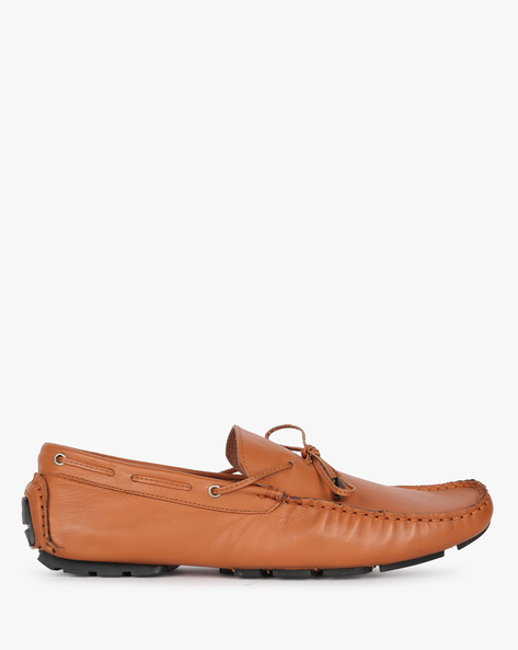 Genuine Leather Slip-On Casual Shoes By Buckle Up ( Tan )