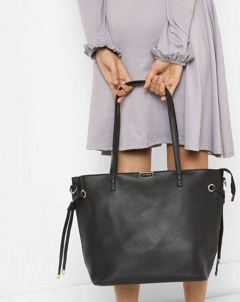 Tote Bag With Pouch By Lino Perros ( Black )