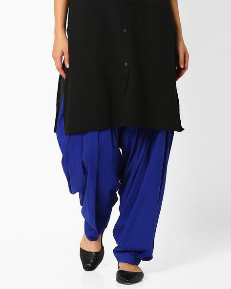 Cotton Patiala Pants By Stylenmart ( Blue )