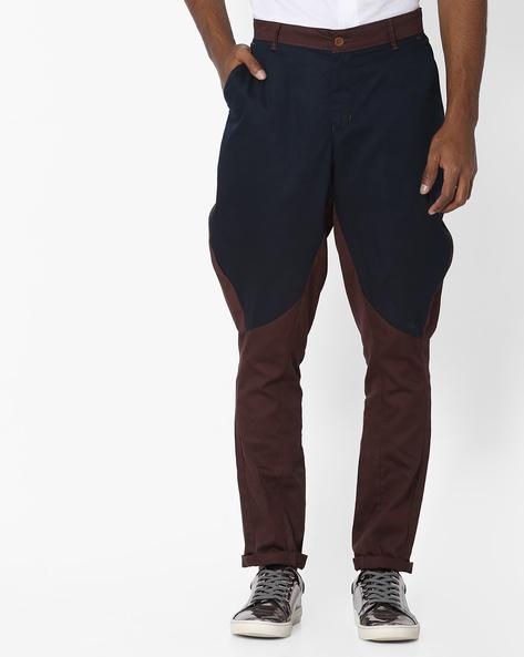 Cotton Jodhpuri Pants With Contrast Panels By MR.BUTTON ( Wine )