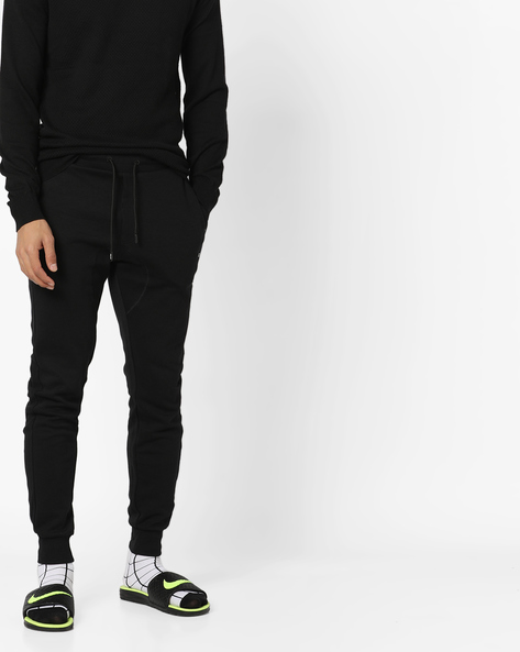Joggers With Drawstring Fastening By PROLINE ( Black )
