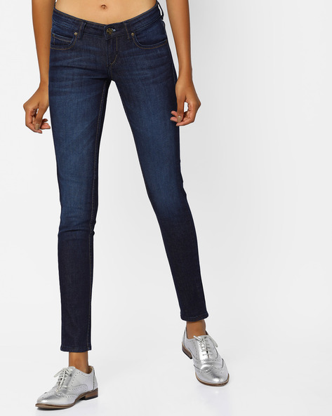 Light-Wash Skinny Fit Jeans By Lee ( Blue )