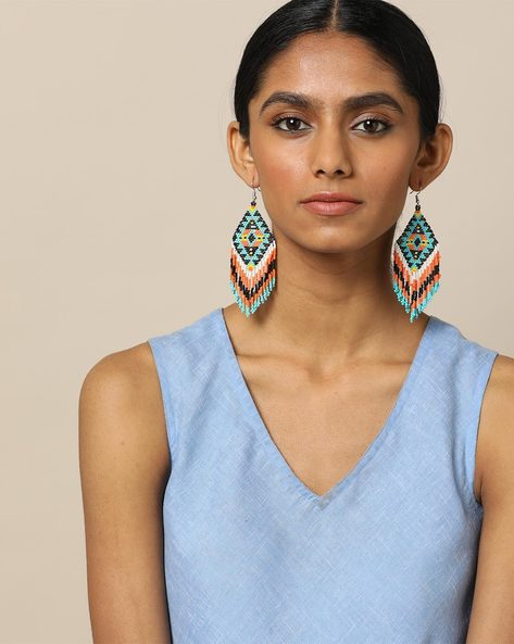 Beaded Dangler Earrings By Indie Picks ( Multi ) - 460189653001