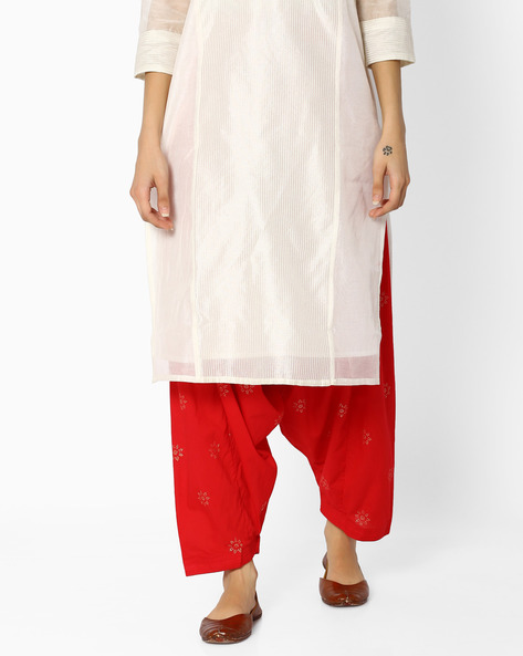 Printed Patiala Pants With Dupatta By AVAASA MIX N' MATCH ( Red )