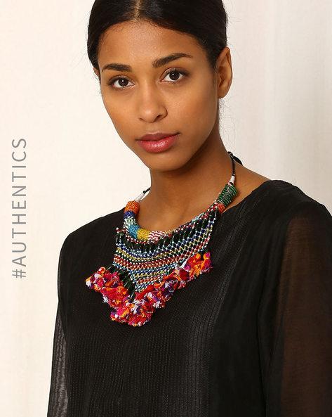 Handmade Beaded Necklace By Indie Picks ( Multi )