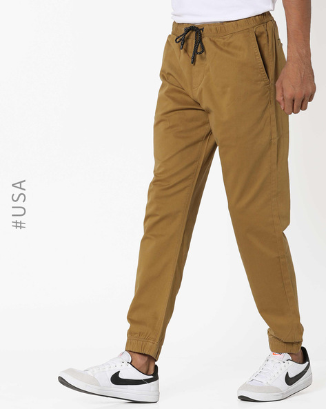 Joggers With Elasticated Waistband By Aeropostale ( Brown )