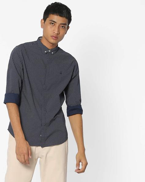 Slim Fit Ditsy Print Shirt By UNITED COLORS OF BENETTON ( Assorted )