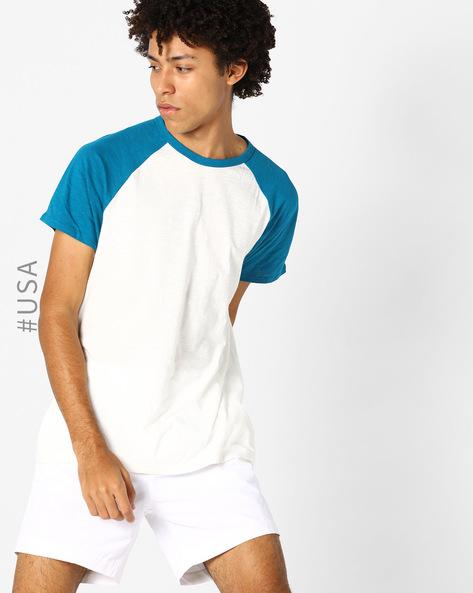 Colourblock Crew-Neck T-shirt With Raglan Sleeves By Aeropostale ( White )