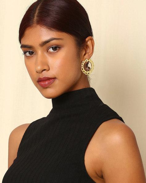 Gold-Plated Drop Earrings By Indie Picks ( Multi )