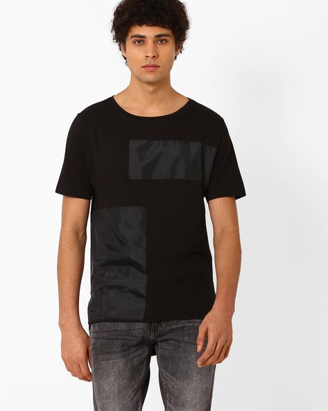 High-Low Hem T-shirt By ADAMO LONDON ( Black )