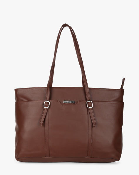Shoulder Bag With Buckles By Toteteca ( Brown )