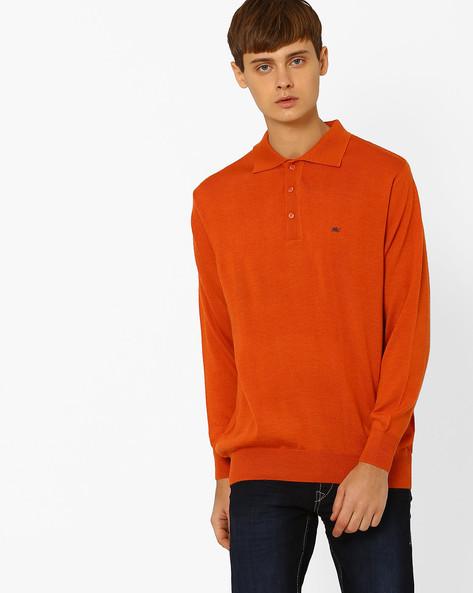 Woollen Polo T-shirt By MONTE CARLO ( Orange )
