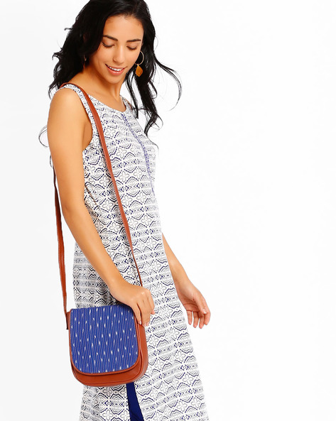 Ikat Sling Bag By AJIO ( Blue )