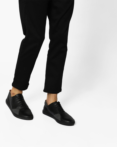 Colourblock Lace-Up Shoes By BCK By Buckaroo ( Black )
