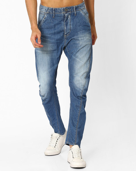 Lightly Washed Jeans With Whiskers By VOI JEANS ( Lightblue )