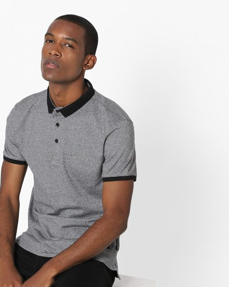 Polo T-shirt With Contrast Collar By LEVIS ( Grey )