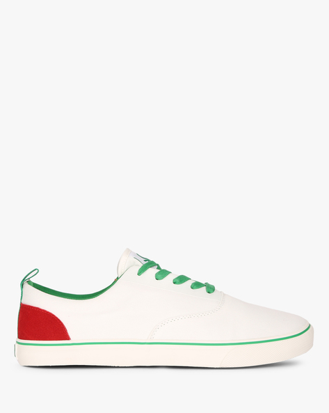 Panelled Canvas Casual Shoes By UNITED COLORS OF BENETTON ( White )