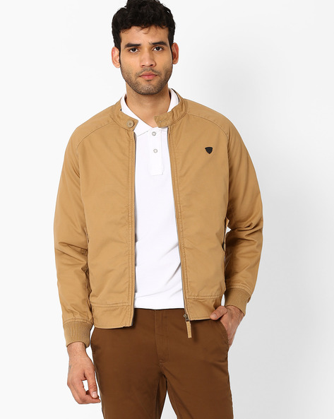 Slim Fit Bomber Jacket By JOHN PLAYERS ( Yellow )