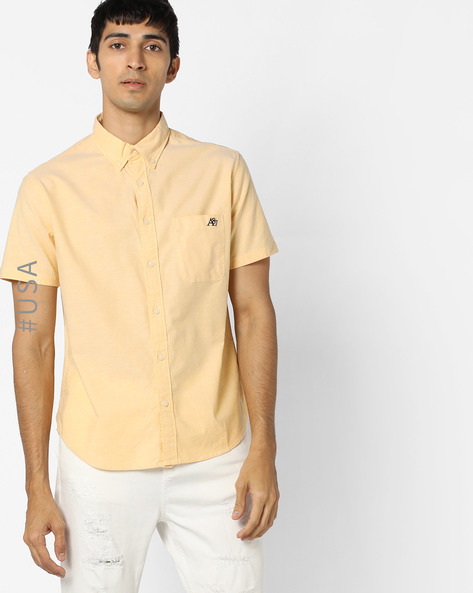 Shirt With Patch Pocket And Button-Down Collar By Aeropostale ( Multi )