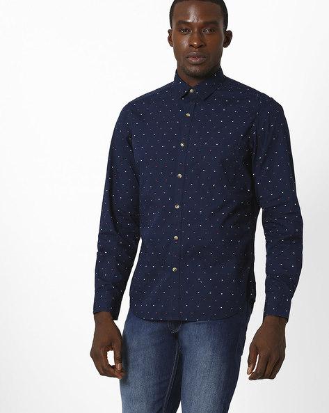 Butta Slim Fit Shirt By JOHN PLAYERS ( Blue )