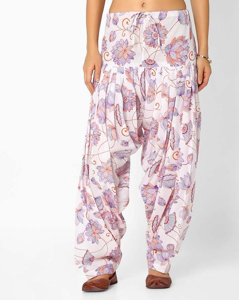 Floral Print Patiala Pants With Dupatta Set By Stylenmart ( Multi ) - 460033309001